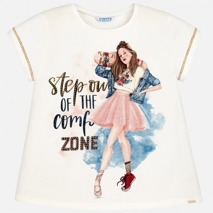 Camiseta manga corta MAYORAL niña rock