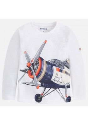 "Camiseta manga larga MAYORAL niño ""smart airplane"""