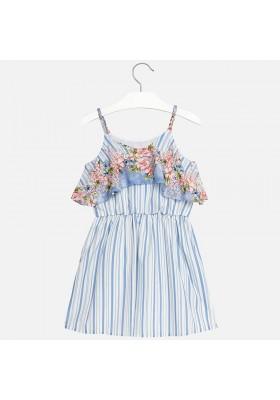 Vestido MAYORAL niña estampado rayas flor