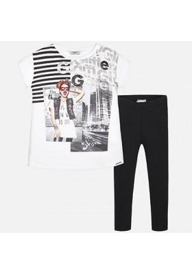 Conjunto leggings  MAYORAL color blanco y negro