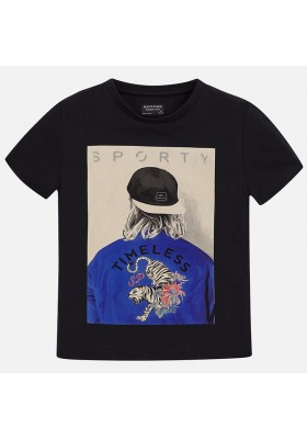 Camiseta manga corta MAYORAL niño serigrafia bombe