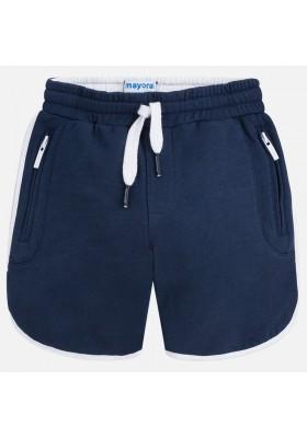 Pantalón corto MAYORAL  niño contraste vivos marino