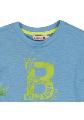 Camiseta manga corta BOBOLI punto flamé de niño