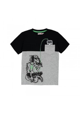 Camiseta manga corta BOBOLI punto liso de niño