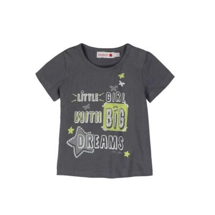 Camiseta manga corta BOBOLI punto liso de bebé niña
