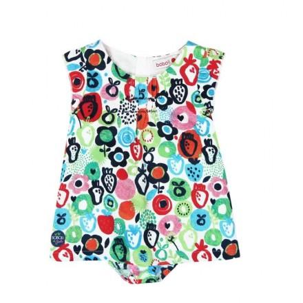 Vestido satén BOBOLI de bebé niña