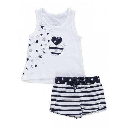 556d0cf58 Conjunto LOSAN niña de camiseta sin mangas y short de felpa. Loading zoom