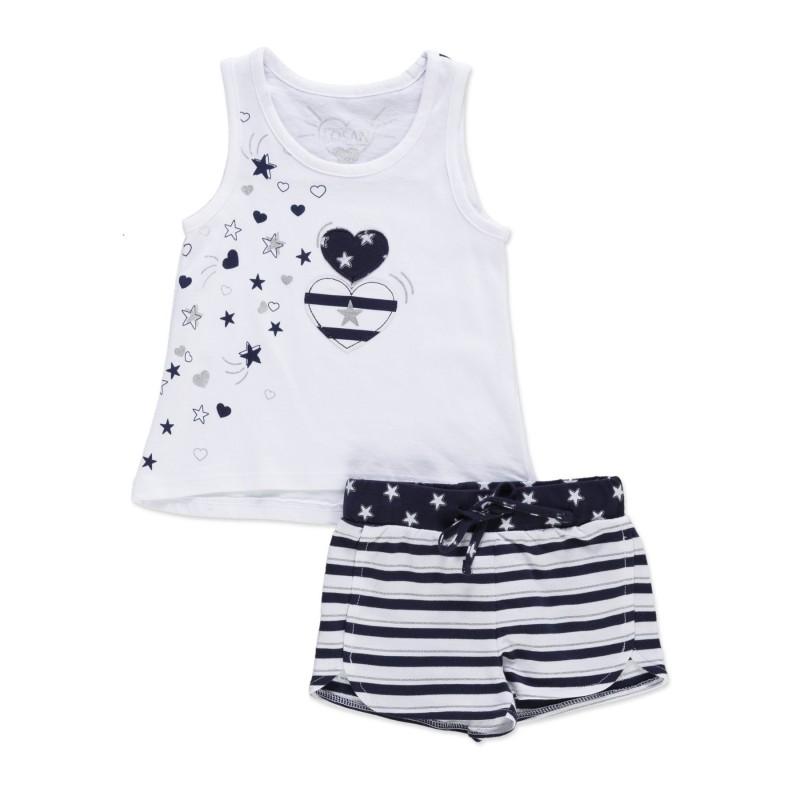 640c3a776 Conjunto LOSAN niña de camiseta sin mangas y short de felpa ...