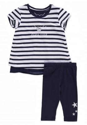 Conjunto  LOSAN niña de camiseta marinera y legging con estrellas