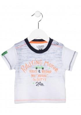 Camiseta manga corta LOSAN bebe niño de color azul