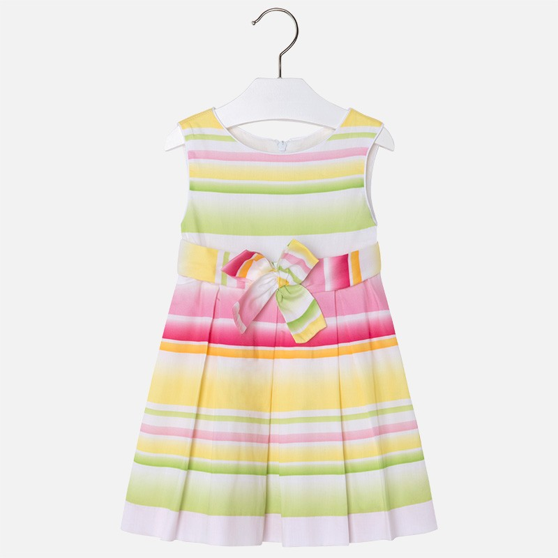 Comprar vestido Mayoral cinturon lazo amarillo de niña modelo 3950 6a42d7a04de8