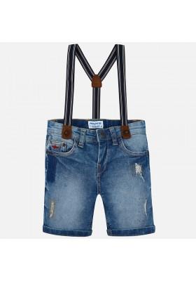 Pantalón corto MAYORAL niño tejana tirantes Tejano