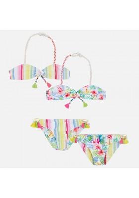 Bikini MAYORAL niña  reversible            Fucsia