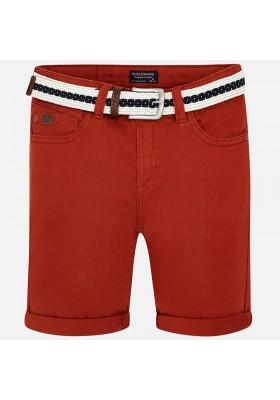 Pantalón corto MAYORAL niño  sarga con cinturon   Cayenne