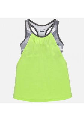 Camiseta tirantes MAYORAL niña con top    Lima fluor