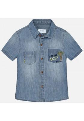 Camisa manga corta MAYORAL bebe niño tejana detalles   Tejano