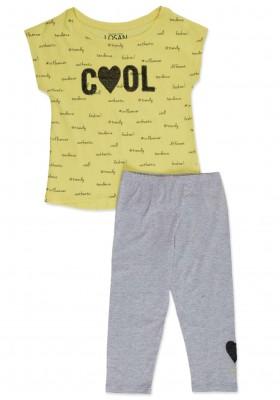 Conjunto LOSAN niña de camiseta y legging con lentejuelas