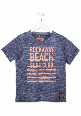 Camiseta manga corta LOSAN niño de color azul estampada