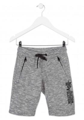 Bermuda  LOSAN niño  de color gris con bolsillos con cremallera