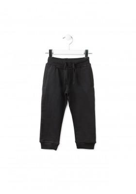 Pantalón LOSAN niño  de deporte en felpa negro