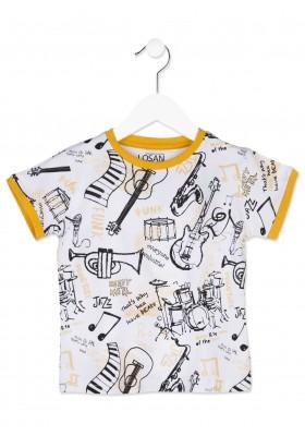 Camiseta de manga corta LOSAN niño con instrumentos musicales