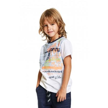 Camiseta de manga corta LOSAN niño  de algodón estampada