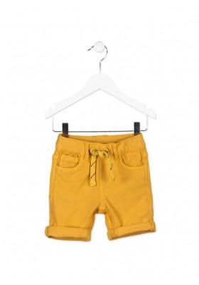 Bermuda LOSAN niño efecto vaquero de color amarillo con cordón