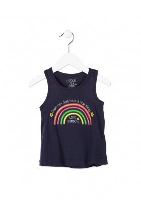 Camiseta de tirantes LOSAN niña de color azul