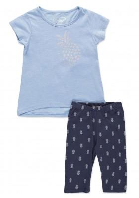 Conjunto LOSAN niña de camiseta con bolsillo y legging estampado