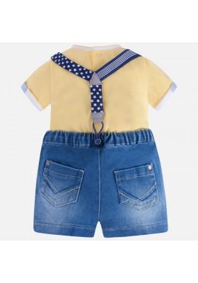 Conjunto MAYORAL bebe niño pantalón corto tejano
