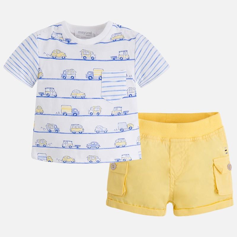 Conjunto MAYORAL bebe niño pantalón corto sarga - tortugablava 15650b0e244a
