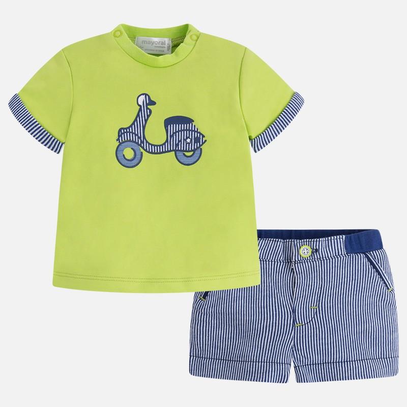 b8336ad02 Conjunto pantalón MAYORAL bebe niño corto punto - tortugablava