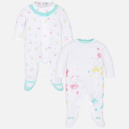 Set 2 pijamas largos MAYORAL bebe niña haditas