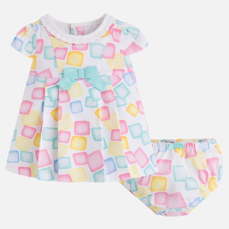 ca244eb28 Vestido MAYORAL bebe niña pique estampado - tortugablava