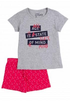 Pijama LOSAN niña de algodón de dos piezas