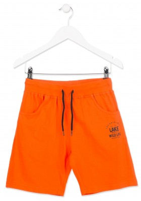 Pantalón corto chandall LOSAN niño color naranja