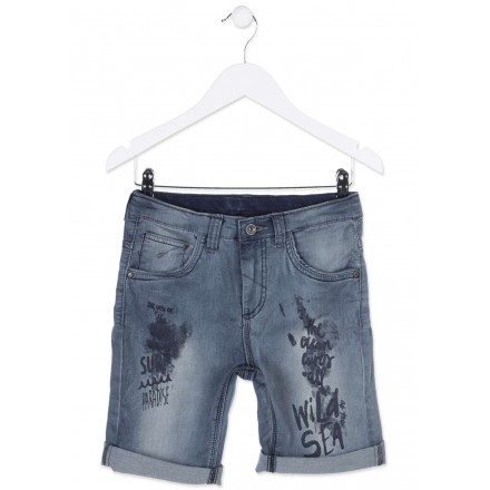 Pantalón corto LOSAN niño vaquero