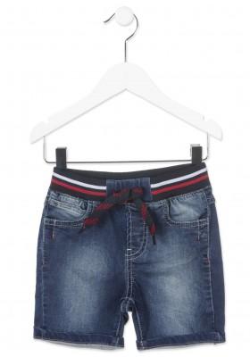 Pantalón corto LOSAN niño de felpa efecto vaquero
