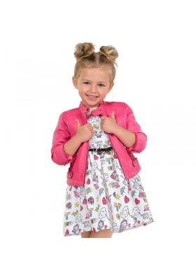Vestido de MAYORAL para niña de popelín con dibujos del espacio