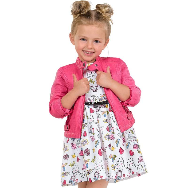 180fce29a Compra vestido de MAYORAL para niña de popelín con dibujos del espacio