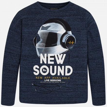 "Camiseta manga larga ""new sound"" MAYORAL niño"