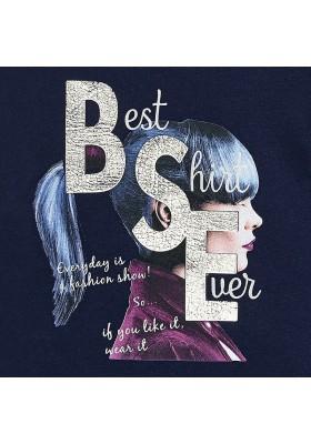 Camiseta manga larga grafica MAYORAL niña