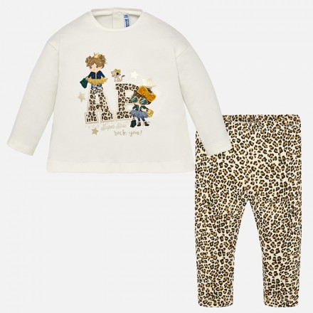 Conjunto leggings leopardo MAYORAL bebe niña