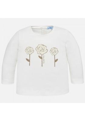 Camiseta manga larga flores MAYORAL bebe niña