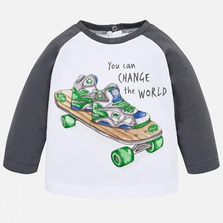 Camiseta manga larga ranglan skate MAYORAL bebe niño