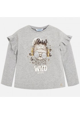Camiseta manga larga serigrafia MAYORAL niña