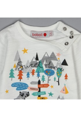 Camiseta punto flamé de bebé niño BOBOLI