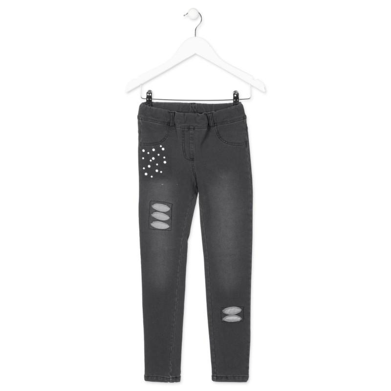 per Skinny Pattern Losan Girl Pantaloni Black nwkO0P