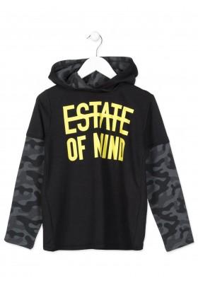 Camiseta manga larga LOSAN para niño en tejido técnico de color negro