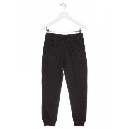 Pantalón LOSAN para niño de color negro de felpa